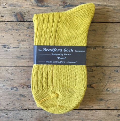 Gold - Wool Socks - Hand or Silk Wash.